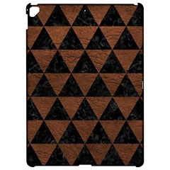 Triangle3 Black Marble & Dull Brown Leather Apple Ipad Pro 12 9   Hardshell Case by trendistuff