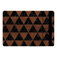 Triangle3 Black Marble & Dull Brown Leather Apple Ipad Pro 10 5   Flip Case