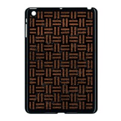Woven1 Black Marble & Dull Brown Leather (r) Apple Ipad Mini Case (black) by trendistuff