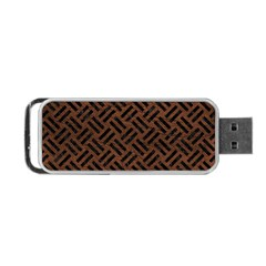 Woven2 Black Marble & Dull Brown Leather Portable Usb Flash (one Side) by trendistuff