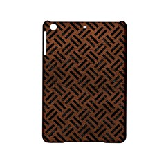 Woven2 Black Marble & Dull Brown Leather Ipad Mini 2 Hardshell Cases by trendistuff