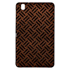 Woven2 Black Marble & Dull Brown Leather Samsung Galaxy Tab Pro 8 4 Hardshell Case by trendistuff