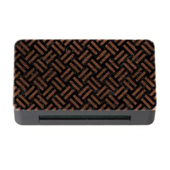 Woven2 Black Marble & Dull Brown Leather (r) Memory Card Reader With Cf by trendistuff