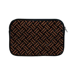 Woven2 Black Marble & Dull Brown Leather (r) Apple Ipad Mini Zipper Cases by trendistuff