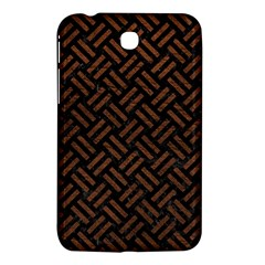 Woven2 Black Marble & Dull Brown Leather (r) Samsung Galaxy Tab 3 (7 ) P3200 Hardshell Case  by trendistuff