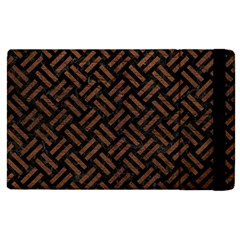 Woven2 Black Marble & Dull Brown Leather (r) Apple Ipad Pro 9 7   Flip Case by trendistuff