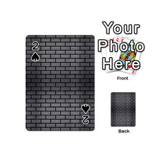 Brick1 Black Marble & Gray Brushed Metal Playing Cards 54 (mini)  by trendistuff