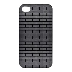 Brick1 Black Marble & Gray Brushed Metal Apple Iphone 4/4s Hardshell Case by trendistuff