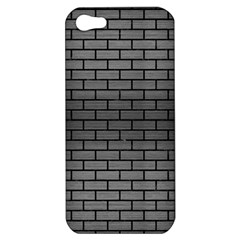 Brick1 Black Marble & Gray Brushed Metal Apple Iphone 5 Hardshell Case by trendistuff