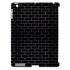Brick1 Black Marble & Gray Brushed Metal (r) Apple Ipad 3/4 Hardshell Case (compatible With Smart Cover) by trendistuff