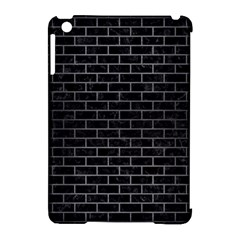 Brick1 Black Marble & Gray Brushed Metal (r) Apple Ipad Mini Hardshell Case (compatible With Smart Cover) by trendistuff