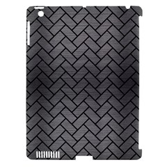 Brick2 Black Marble & Gray Brushed Metal Apple Ipad 3/4 Hardshell Case (compatible With Smart Cover) by trendistuff