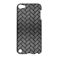 Brick2 Black Marble & Gray Brushed Metal Apple Ipod Touch 5 Hardshell Case by trendistuff