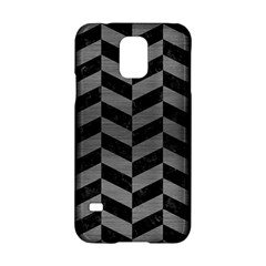 Chevron1 Black Marble & Gray Brushed Metal Samsung Galaxy S5 Hardshell Case  by trendistuff