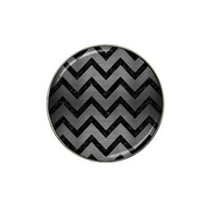 Chevron9 Black Marble & Gray Brushed Metal Hat Clip Ball Marker (4 Pack) by trendistuff