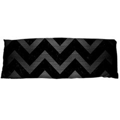 Chevron9 Black Marble & Gray Brushed Metal (r) Body Pillow Case Dakimakura (two Sides) by trendistuff