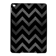 Chevron9 Black Marble & Gray Brushed Metal (r) Ipad Air 2 Hardshell Cases by trendistuff