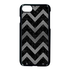 Chevron9 Black Marble & Gray Brushed Metal (r) Apple Iphone 7 Seamless Case (black) by trendistuff