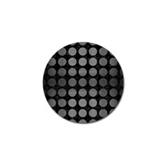 Circles1 Black Marble & Gray Brushed Metal (r) Golf Ball Marker (10 Pack) by trendistuff