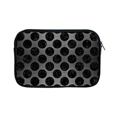Circles2 Black Marble & Gray Brushed Metal Apple Ipad Mini Zipper Cases by trendistuff