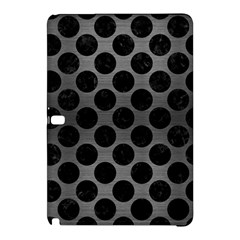 Circles2 Black Marble & Gray Brushed Metal Samsung Galaxy Tab Pro 12 2 Hardshell Case by trendistuff