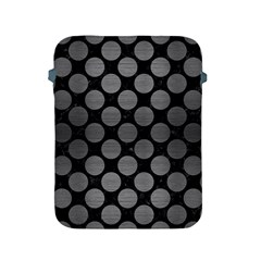 Circles2 Black Marble & Gray Brushed Metal (r) Apple Ipad 2/3/4 Protective Soft Cases by trendistuff