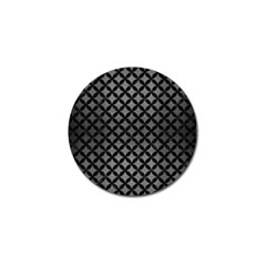 Circles3 Black Marble & Gray Brushed Metal Golf Ball Marker by trendistuff
