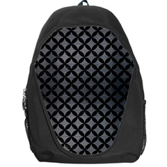 Circles3 Black Marble & Gray Brushed Metal Backpack Bag by trendistuff