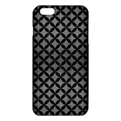 Circles3 Black Marble & Gray Brushed Metal Iphone 6 Plus/6s Plus Tpu Case by trendistuff