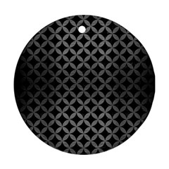 Circles3 Black Marble & Gray Brushed Metal (r) Round Ornament (two Sides) by trendistuff