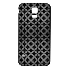 Circles3 Black Marble & Gray Brushed Metal (r) Samsung Galaxy S5 Back Case (white) by trendistuff