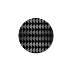 Diamond1 Black Marble & Gray Brushed Metal Golf Ball Marker (4 Pack) by trendistuff