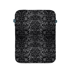 Damask2 Black Marble & Gray Brushed Metal Apple Ipad 2/3/4 Protective Soft Cases by trendistuff