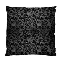 Damask2 Black Marble & Gray Brushed Metal (r) Standard Cushion Case (one Side) by trendistuff