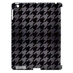 Houndstooth1 Black Marble & Gray Brushed Metal Apple Ipad 3/4 Hardshell Case (compatible With Smart Cover) by trendistuff