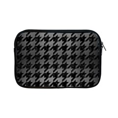 Houndstooth1 Black Marble & Gray Brushed Metal Apple Ipad Mini Zipper Cases by trendistuff
