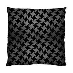 Houndstooth2 Black Marble & Gray Brushed Metal Standard Cushion Case (two Sides) by trendistuff