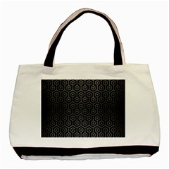 Hexagon1 Black Marble & Gray Brushed Metal (r) Basic Tote Bag (two Sides) by trendistuff