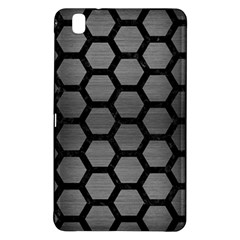 Hexagon2 Black Marble & Gray Brushed Metal Samsung Galaxy Tab Pro 8 4 Hardshell Case by trendistuff