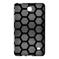 Hexagon2 Black Marble & Gray Brushed Metal Samsung Galaxy Tab 4 (7 ) Hardshell Case  by trendistuff