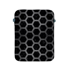 Hexagon2 Black Marble & Gray Brushed Metal (r) Apple Ipad 2/3/4 Protective Soft Cases by trendistuff