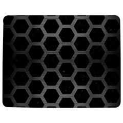 Hexagon2 Black Marble & Gray Brushed Metal (r) Jigsaw Puzzle Photo Stand (rectangular) by trendistuff
