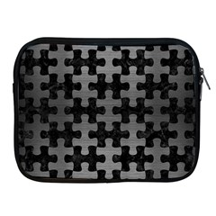Puzzle1 Black Marble & Gray Brushed Metal Apple Ipad 2/3/4 Zipper Cases by trendistuff