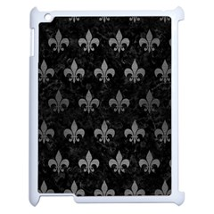 Royal1 Black Marble & Gray Brushed Metal Apple Ipad 2 Case (white) by trendistuff