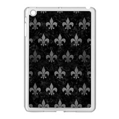 Royal1 Black Marble & Gray Brushed Metal Apple Ipad Mini Case (white) by trendistuff