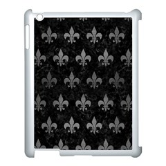 Royal1 Black Marble & Gray Brushed Metal Apple Ipad 3/4 Case (white) by trendistuff