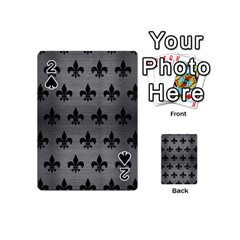 Royal1 Black Marble & Gray Brushed Metal (r) Playing Cards 54 (mini)  by trendistuff