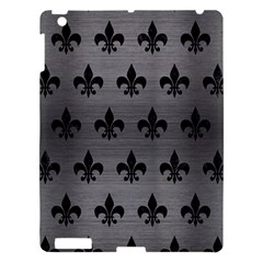 Royal1 Black Marble & Gray Brushed Metal (r) Apple Ipad 3/4 Hardshell Case by trendistuff