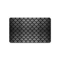 Scales1 Black Marble & Gray Brushed Metal Magnet (name Card) by trendistuff