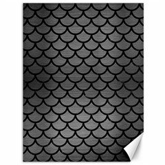 Scales1 Black Marble & Gray Brushed Metal Canvas 36  X 48   by trendistuff